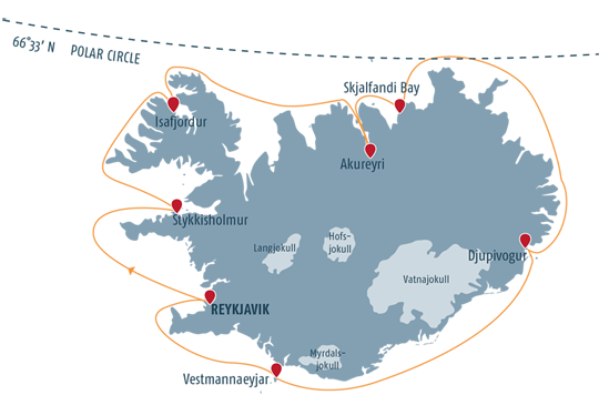 Map Best of Iceland