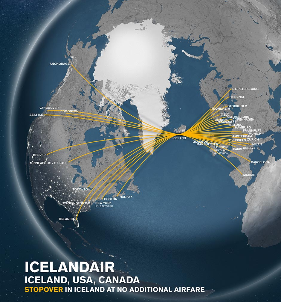 Fly with Icelandair