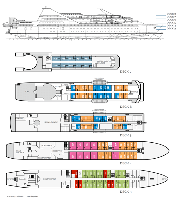 Deck plan Ocean Diamond