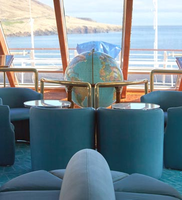 MS Ocean Diamond observation lounge